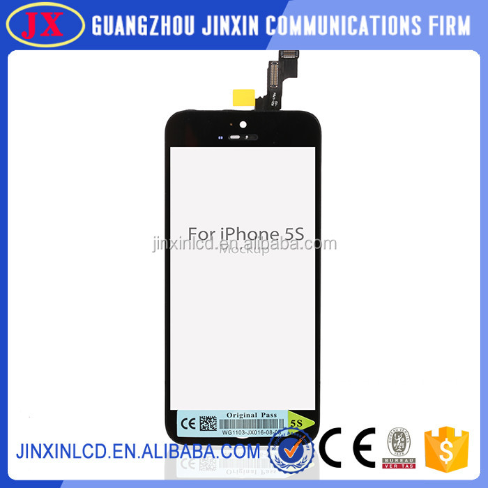 wholesele lcd digitizer assembly for iphone 5s, accept paypal