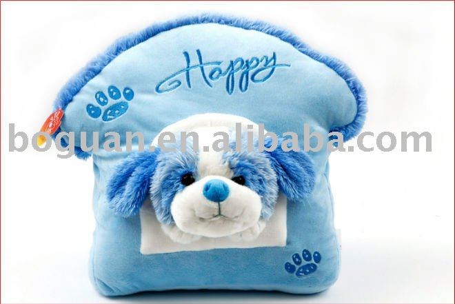 2011 animal shaped dog 38cm ultra soft throw pillows