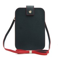 CSS1367-001 Mobile Phone Cell Phone Shoulder Strap Bags genuine Leather Mini Cross-Body Bag For iPhone 6 Plus