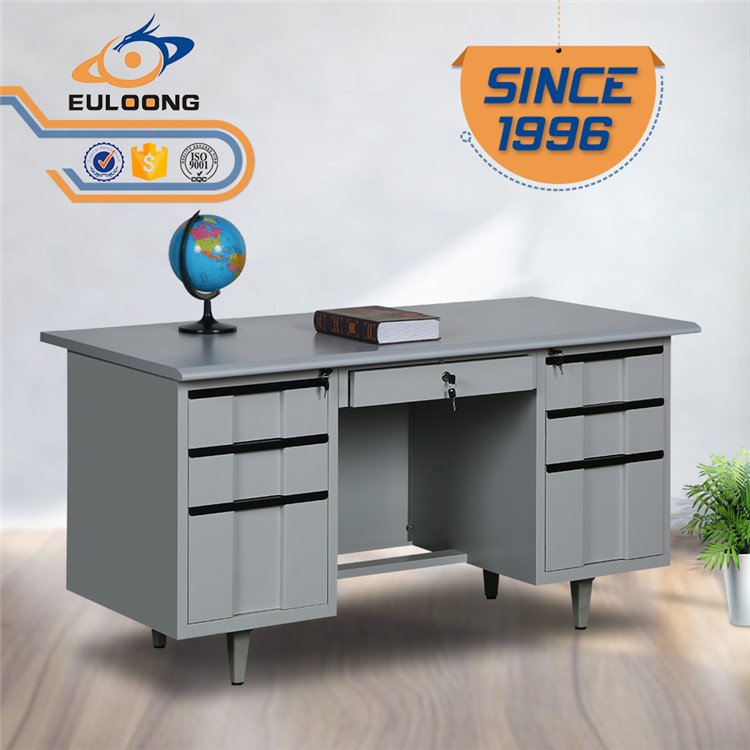 Standard cold rolled metal sheet office table steel office desk with good price/modern style office iron furniture