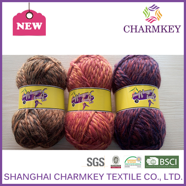 50% wool yarn charmkey acrylic yarn waste