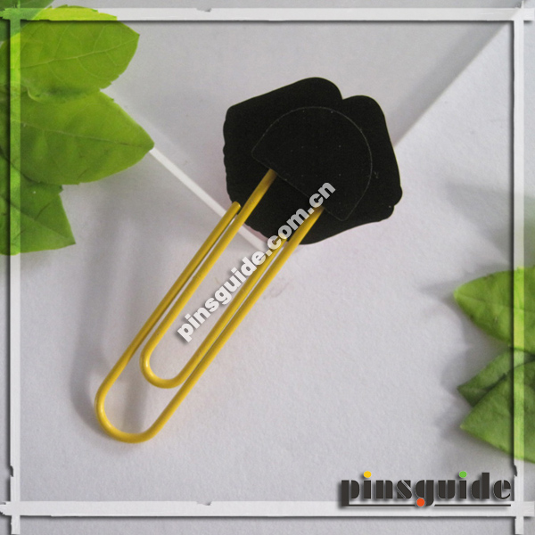 China Supplier 2D Rubber Paper Clip Bookmark For Graduation Souvenir