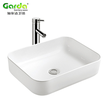 China suppliers sanitary ware rectangular ceramic bathroom wash basin for toilet room