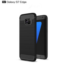 Durable custom printing logo carbon fiber cell phone case for Samsung Galaxy S7 edge
