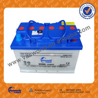 2014 DIN standard 12V66AH dry-charged car battery/airplan battery with good price