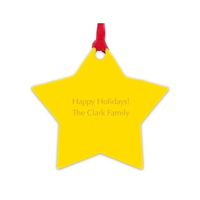personalized yellow acrylic star shaped hanging gift decorative ornaments