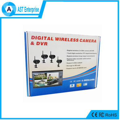 "Outdoor Wireless Digital <strong>DVR</strong> CCTV Camera Security System hd portable <strong>dvr</strong> with built-in 7"" lcd screen monitor"