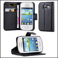 Premium Wallet Leather Moblie Phone Case Cover for Samsung Galaxy Pocket 2
