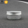 200ml aluminium cap seal clear empty plastic pet jar