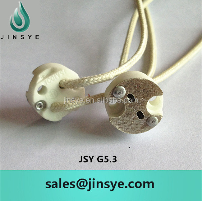 g4/g5.3/g6.35 halogen lamp socket ( G5.3 lamp holder <strong>base</strong> )