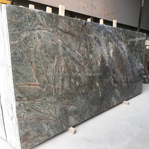 Rainforest green marble polished tiles for hotel lobby decoration