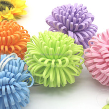 Promotional cheap bath pouf wholesale,mesh pouf bath sponge