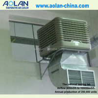 Evaporative outdoor wall mount fan for industry