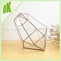 ~ Geometric Air Plant Holder Stained Glass Hanging Terrarium Clear and Copper Colored Triangles <> wholesale large dongguan vase