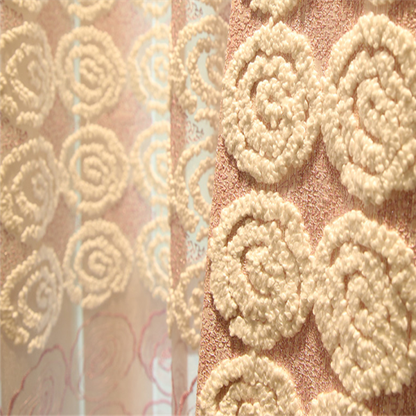 100% polyester embroider jacquard drapery fabric wholesale window curtains