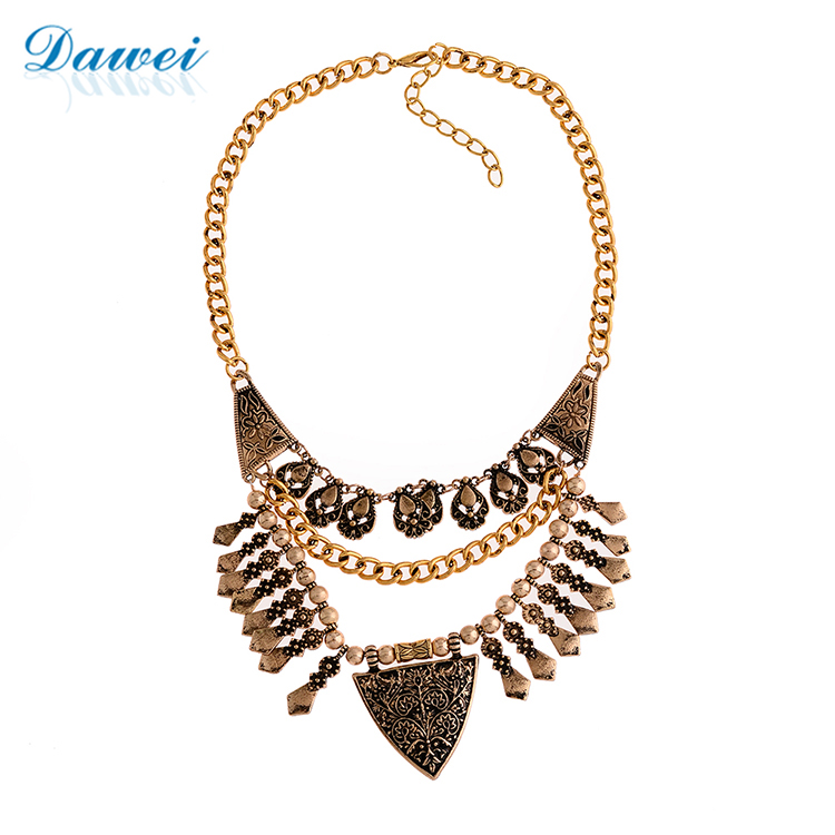 Newest Design Hot Sale Rani haar style lady Wedding Gold Crescent Moon Choker Jewelry Necklace
