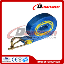 Dawson cargo tie down belt ratchet lashing strap with D ring