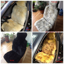Thick and Plush Sheep Skin Fur Car Seat Covers