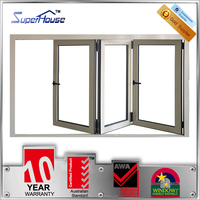 AS2047 China top supplier aluminum double glass folding window with unique design