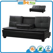 FABRIC UPHOLSTERED PU PVC LEATHER MODERN LIVING ROOM ARMLESS BLACK LAZY BOY ADJUSTABLE SOFA BED