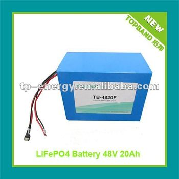 New Arrival TB-4820F 48V20Ah/40Ah/60Ah Electric Motorcycle Battery with PCM Protection + Charger