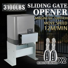 1400KG Motor Powered Automatic Sliding Gate Opener + Remote Controllers