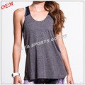 2017 new style open back cowl detail womens fitness tank tops