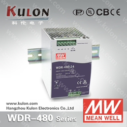 MEAN WELL Power Supply WDR-480 24V 48V industrial DIN Rail Switching Power Supply