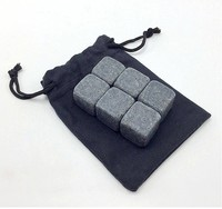 Whiskey Stone Set In Pine Wood Gift Case Best Gifts Whisky Stones