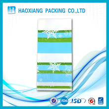 Plastic material square bottom bags with custom design for shopping