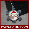 hot selling 2017 sublimated snowflake pendant for holiday decoration