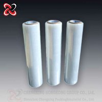 China top sale 3 layer transparent poly extensible wrap film for industry factory
