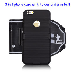 multifunction Transformers phone case with arm belt with holder for iPhone 6 SE 5S for Samsung Galaxy S5 S6 S7