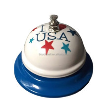 Customization I heart USA call bell Counter Paint Service Table Bell