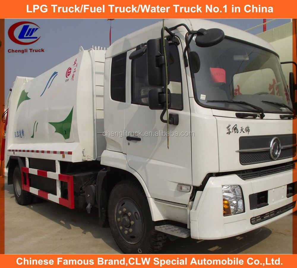 Dongfeng garbage compactor truck 6 wheels compressed garbage trucks 10 tons capacity garbage trucks for sale