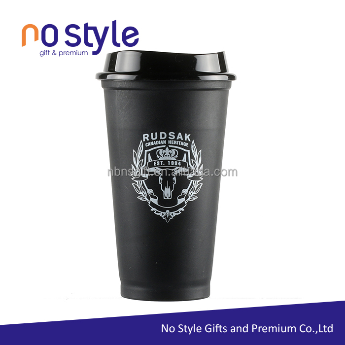 Bpa free eco-Friendly takeaway reusable coffee cup custom with lid