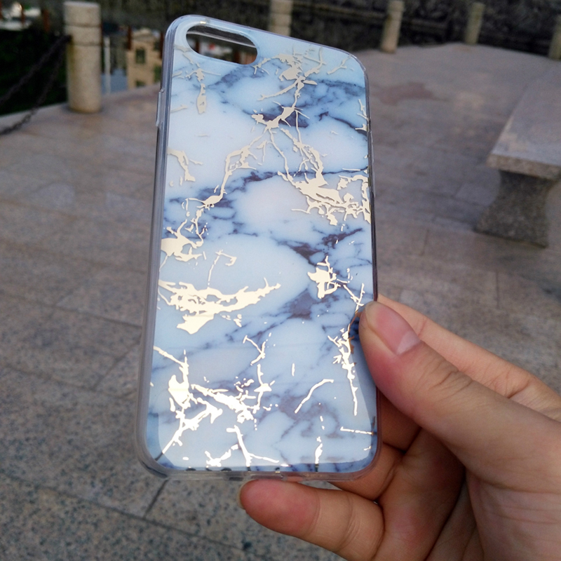 Super amazing reality IMD Marble Pattern anti shock mobile phone case for iphone 7
