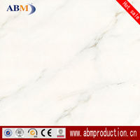 600x600 Bathroom White Glazed Polished Tiles, Large White Floor Tiles