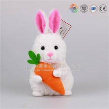 Plush Easter Rabbit hodling a Carrot