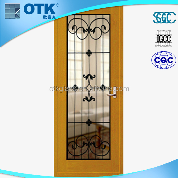 Doors & Windows High efficiency decorative wrought iron glass