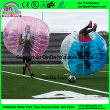 High quality clear 0.8mm PVC adults human suit ball knockerballs inflatable bubble soccer
