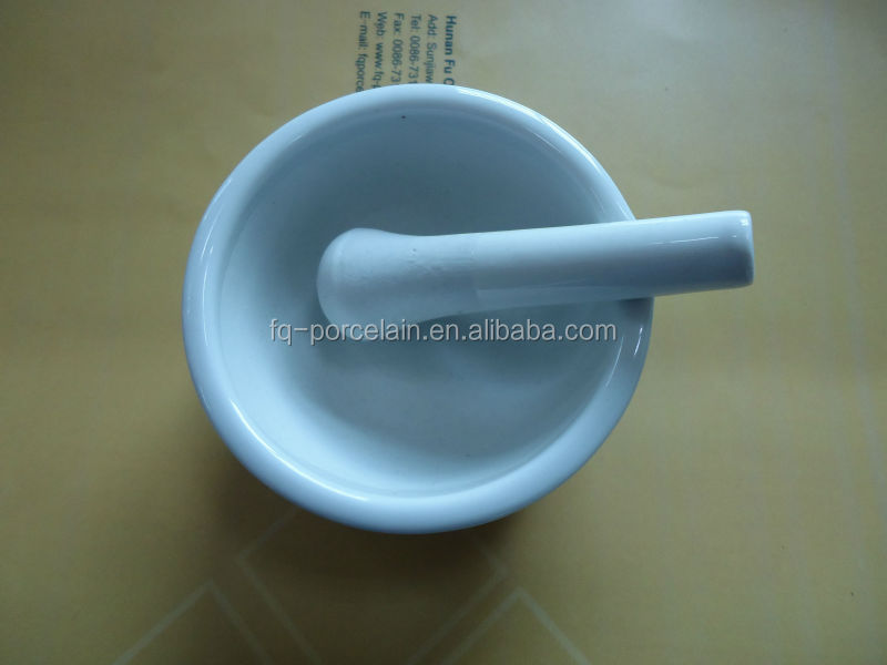 Porcelain Mortars With Pestle For Laboratory Analysis