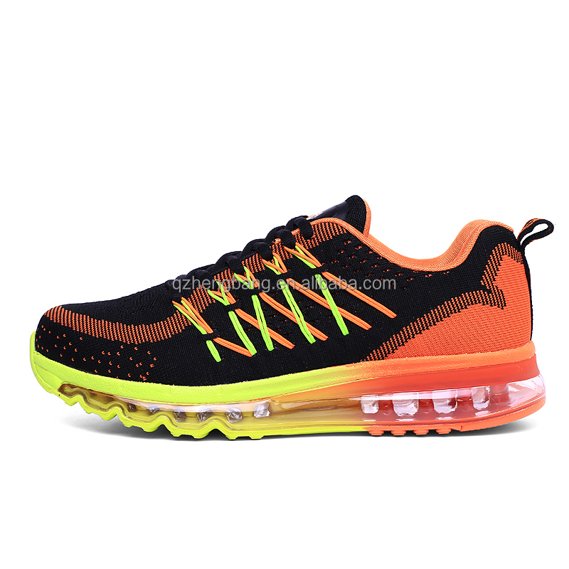 OEM factory men's flyknit max running shoes full length air cushion sneaker for man couple style inventory