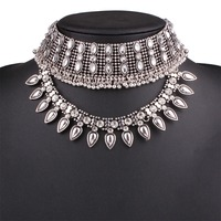 Fashion Vintage Rhinestones Choker Necklaces NK4172