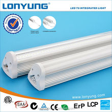 High luminous t8 18w integration led tube beam angel with ETL TUV SAA CE ROHS DLC LCP approval 3 years warranty