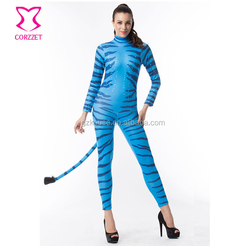 Corzzet Wholesale Avatar Halloween Costume for Women Carnival Party Fantasias Costumes