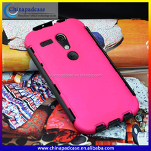 For Moto Latest robot style 2 in1 pc + tpu case for Moto G/hybrid shockproof rubber back cover case for Moto G