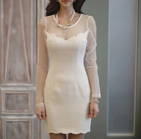 W30417H 2015 fashion women dress sexy dress long sleeve sexy dress club wear