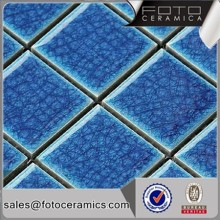 Ice break square blue ceramic dolphin mosaic pattern