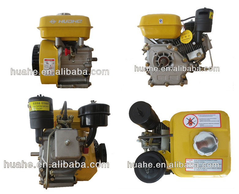 4 Stroke, 163cc small diesel engines, single cylinder diesel engine for generator